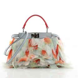 Peekaboo Bag Organza Feather Mini
