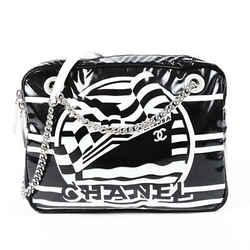 Chanel Bag La Pausa Camera Black Vinyl Crossbody
