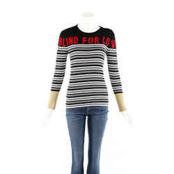 Gucci Sweater Blind For Love Multicolor Striped Knit SZ S