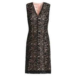 Lanvin Black / Nude Corded Lace Dress