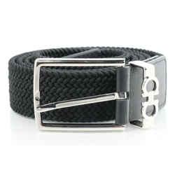 Salvatore Ferragamo Men's Gancini Woven Fabric Belt