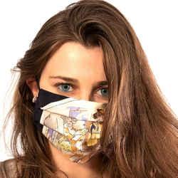LORO PIANA Vintage Voyages Silk Scarf Face Mask