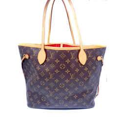 Louis Vuitton Neverfull Monogram Red Interior Tote Shoulder Bag