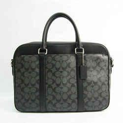 Coach Signature F54803 Men's Coated Canvas,Leather Briefcase,Handbag Bl BF522878