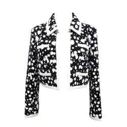 Cropped Black & White Cotton Jacket | Runway Spring 2015