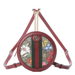 Gucci Ophidia Red GG Supreme Canvas Flora Print Backpack 598661