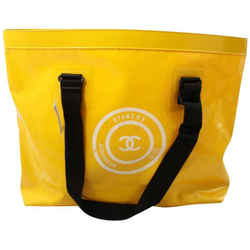 Chanel Large Yellow Waterproof Beach Tote Bag 862127