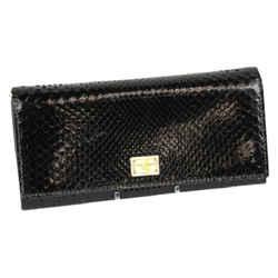 Dolce & Gabbana Python Continetnal Leather Wallet - Black