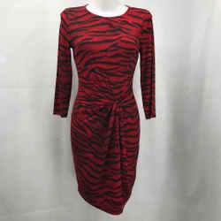Michael Kors Red Long Sleeve Dress XS