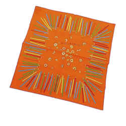 Vintage Authentic Hermes Orange Silk Fabric A Vos Crayons Scarf France w/ Box