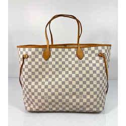 Louis Vuitton Damier Azur Neverfull GM Tote Shoulder Handbag