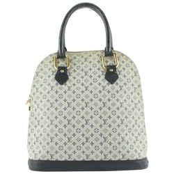 Louis Vuitton Navy Blue Monogram Mini Lin Alma Haut Bag Tall Vertical 555lvs611