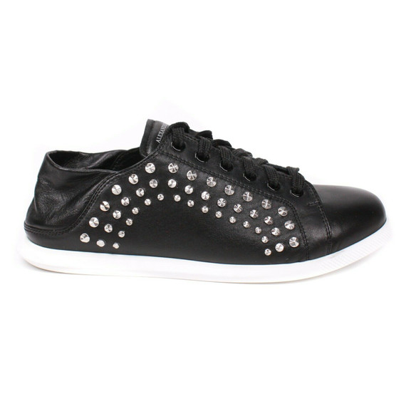 Alexander Mcqueen - New - Studded Sneaker Mules - Black Leather - Us 7 - 37