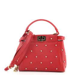Peekaboo Iconic Bag Studded Leather XS