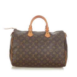 Brown Louis Vuitton Monogram Speedy 35 Bag