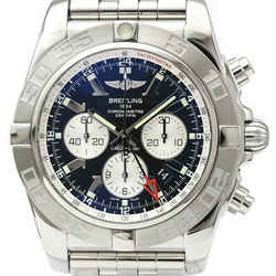 Polished BREITLING Chronomat GMT Steel Automatic Mens Watch AB0410 BF521104
