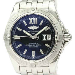 Polished BREITLING Windrider Cockpit Steel Automatic Mens Watch A49350 BF525255