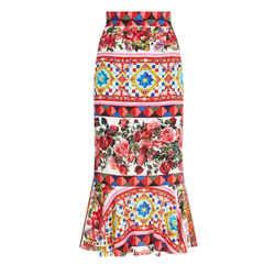 New Mambo Print Peplum Skirt