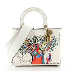 Supple Lady Dior Bag Limited Edition Niki de Saint Phalle Printed Leather Medium