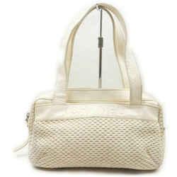 Chanel Cream Woven Boston Bag 861248