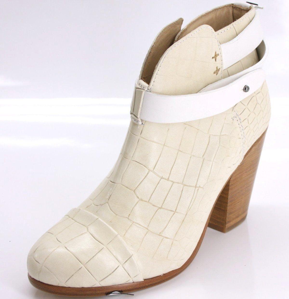 Rag \u0026 Bone Ivory Leather Harrow Ankle