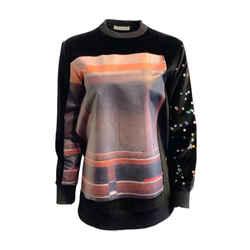 Givenchy Velvet Graphic Black Sweater