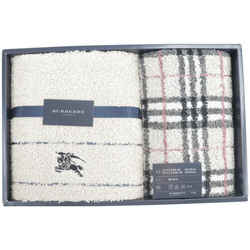 Burberry Nova Check Towel Set Beige Two Gift Package 234371