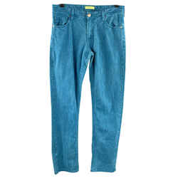 Versace Jeans Size 30 Teal Washed Cotton Jeans
