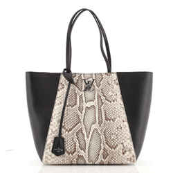 Lockme Cabas Leather and Python