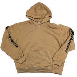 Yeezy - New - Men's Calabasas Sweatshirt Hoodie - Tan Logo Sleeve - US Large L
