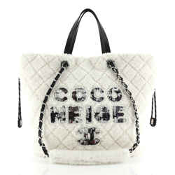 Coco Neige Shopping Tote Quilted Shearling Large
