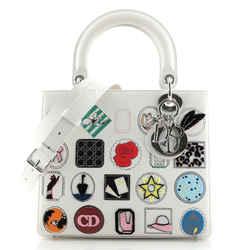 Lady Dior Bag Patch Embellished Leather Medium
