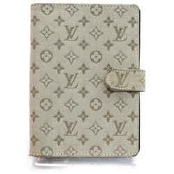 Louis Vuitton 872106 Khaki Monogram Mini Lin Diary Cover Agenda PM
