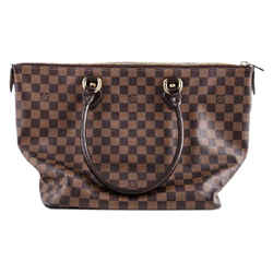 Louis Vuitton Damier Saleya Shoulder Bag Brown Canvas