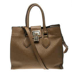Roberto Cavalli Brown Leather Florence Tote