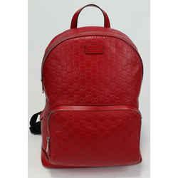 Gucci Guccissima Small Signature Backpack - Red