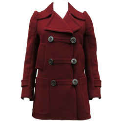 Wool Burgundy Peacoat