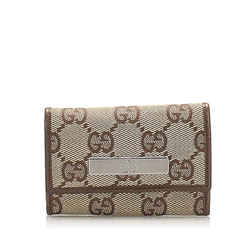 Brown Gucci GG Canvas Key Holder