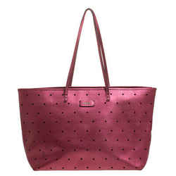 Fendi Metallic Purple Perforated Leather Roll Tote