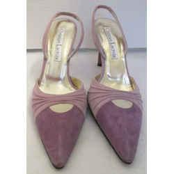 Christian Lacroix Two Tone Purple Suede Slingbacks - Size 37 1/2