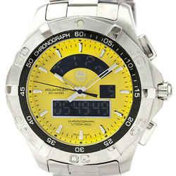 Polished TAG HEUER Aquaracer Chronotimer Steel Mens Watch CAF1011 BF530442