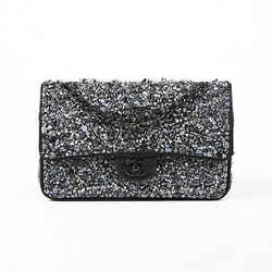Chanel Limited Edition Black Sequin Beaded Classic Flap Bag