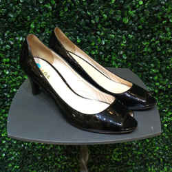 PRADA Size 37.5/7.5 Black Heels