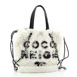 Coco Neige Shopping Tote Quilted Shearling Small