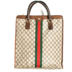 Gucci - Ophidia Gg Monogram Tote Bag - Brown Leather Tall Xl Vintage Web Stripe