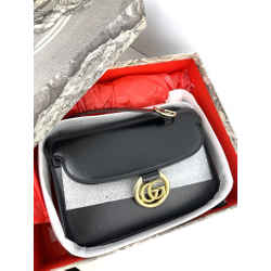 Gucci Black Leather GG Ring (Full Set)