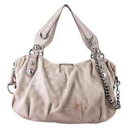 Gucci Icon Bit Embossed Leather Medium Boston Beige Tote Bag