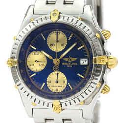 Polished BREITLING Chronomat 18K Gold Steel Automatic Watch B13050.1 BF531850
