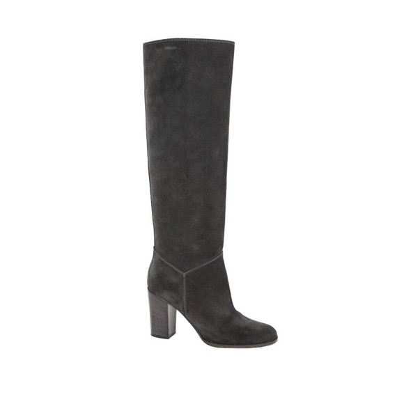 Chanel | Charcoal Suede Boots