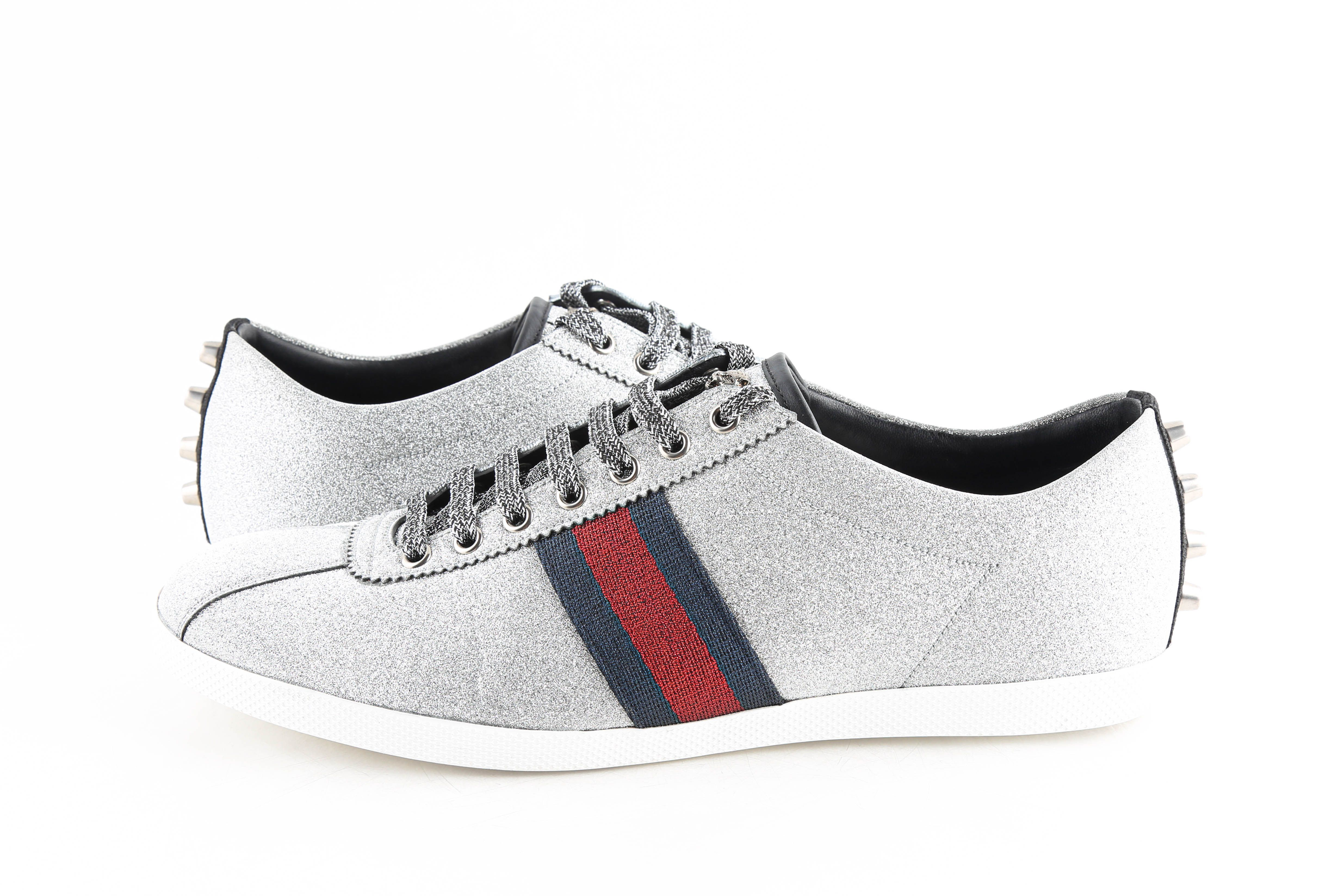 Gucci Bambi Web Low-top Sneakers With